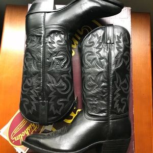 J. Chisholm All Leather Cowboy Boots